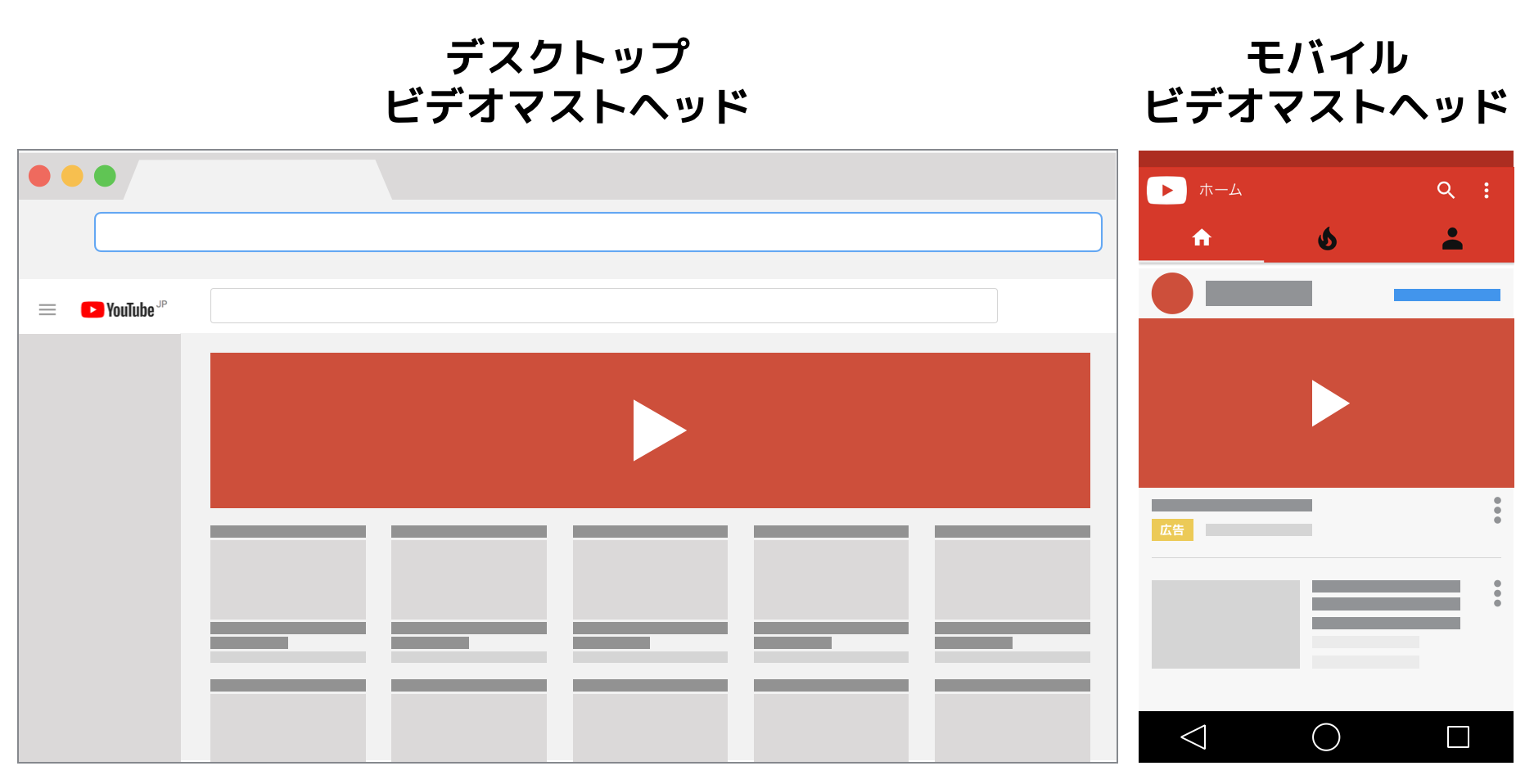 YouTubeのマストヘッド広告